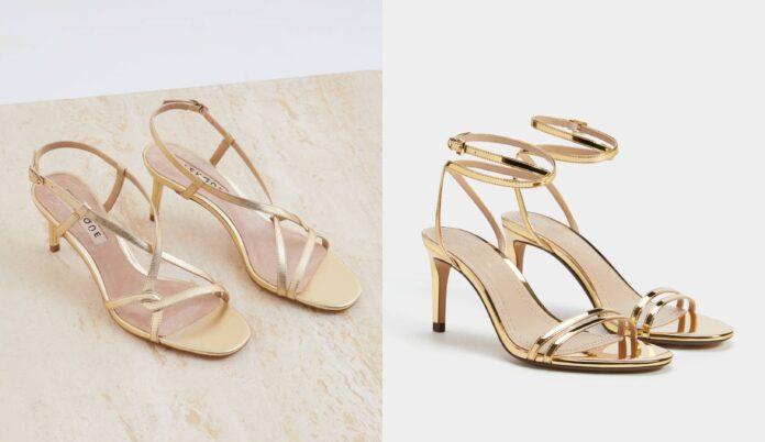 Posebne i upečatljive zlatne sandale iz novih kolekcija
