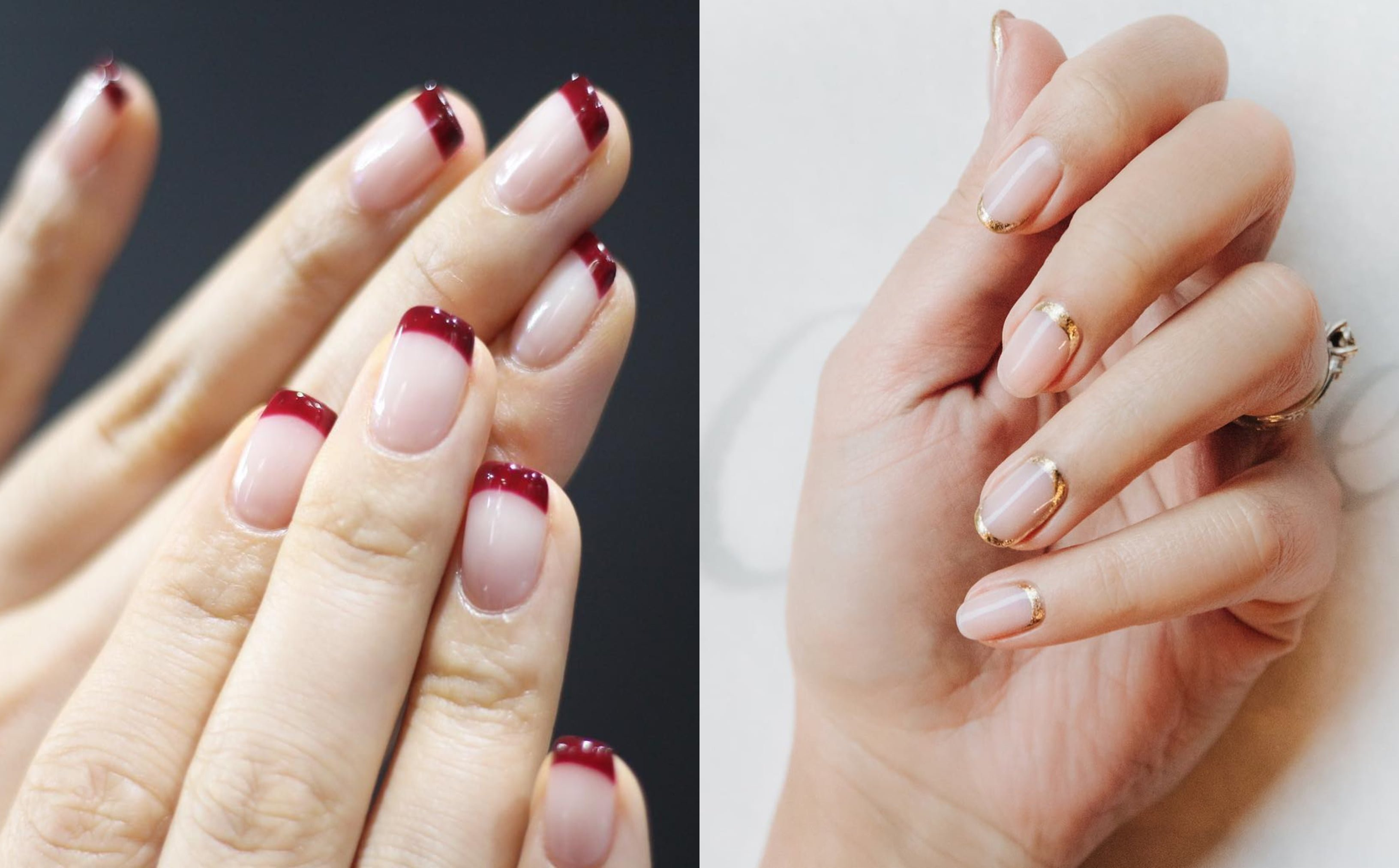 Ova vrsta francuske manikure izgleda jako poželjno na noktima