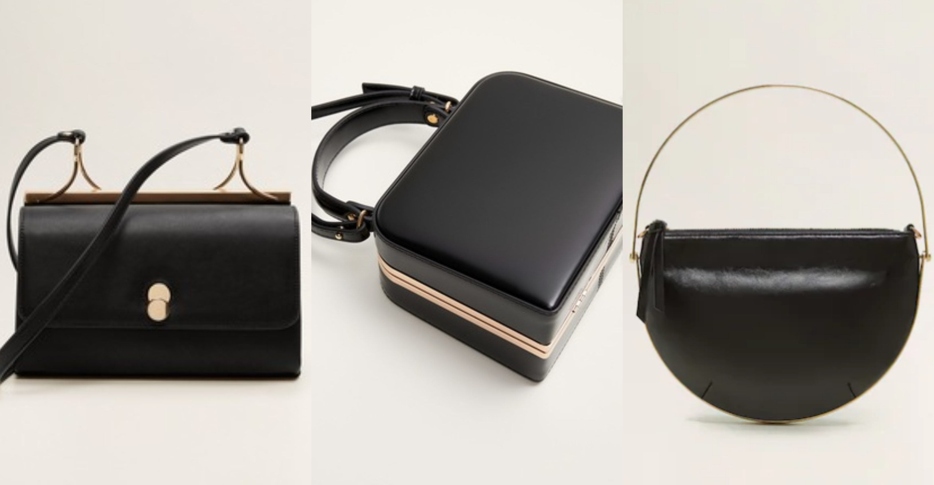 Klasične crne torbe s neobičnim metalnim akcentom
