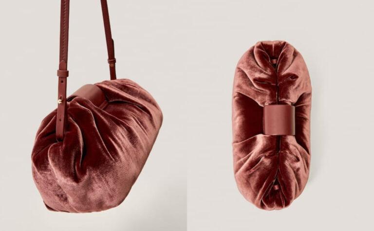 Osvojila nas je baršunasta Massimo Dutti torbica